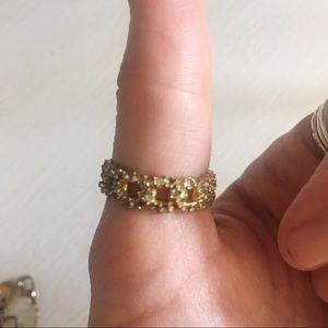 Chloe + Isabel Jewelry - Chloe and Isabel Gold Pave Rhinestone Ring